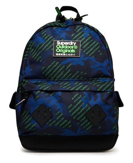 Superdry Montana Rucksack mit durchgehendem Logo-Print   Taschen > Rucksäcke > Sonstige Rucksäcke   Neongrün tarnmuster   Material: polyester 100%    Superdry