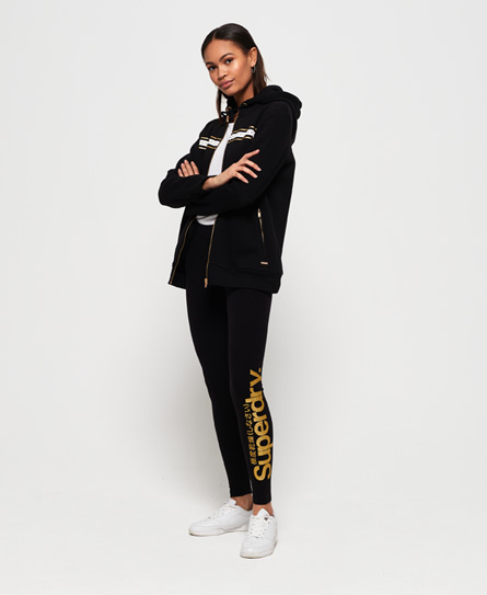 Superdry Alice Leggings | Bekleidung > Hosen > Leggings | Schwarz | Rumpf: baumwolle 95%|elastan 5%| | Superdry