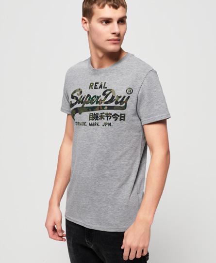 Superdry Superdry Vintage Logo T-shirt med farvelagt camo-design