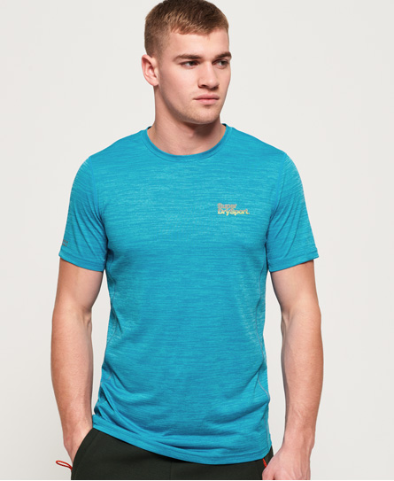 Superdry Active Trainings-T-Shirt mit kurzen Ärmeln