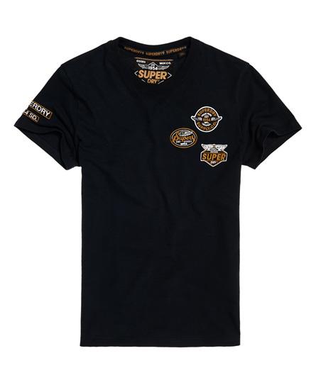Superdry T-Shirt mit Aufnähern