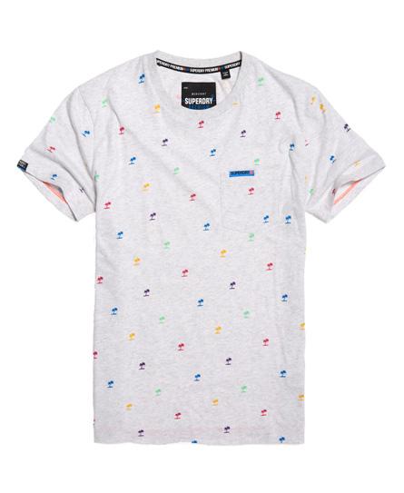 Superdry Leichtes Kurzarm-T-Shirt mit durchgehendem Print