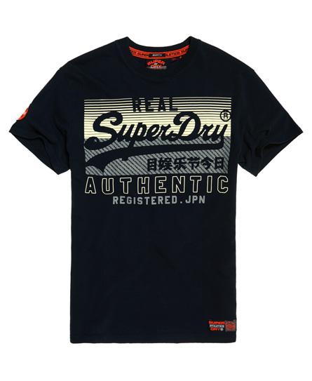 Superdry Klassisches kastiges Reactive T-Shirt mit Vintage-Logo