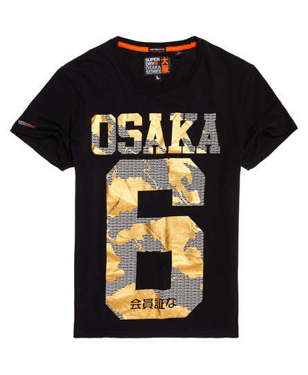 Superdry Superdry Let monokrom Osaka T-shirt