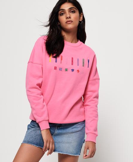 Superdry Carly Carnival Sweatshirt mit Stickerei und Rundhalsausschnitt