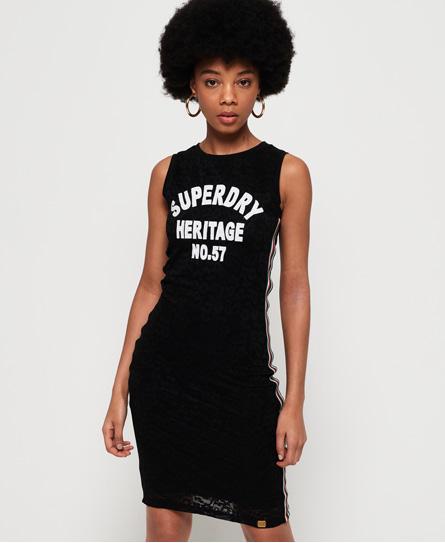 Superdry Blake Lace midi-jurk zwart
