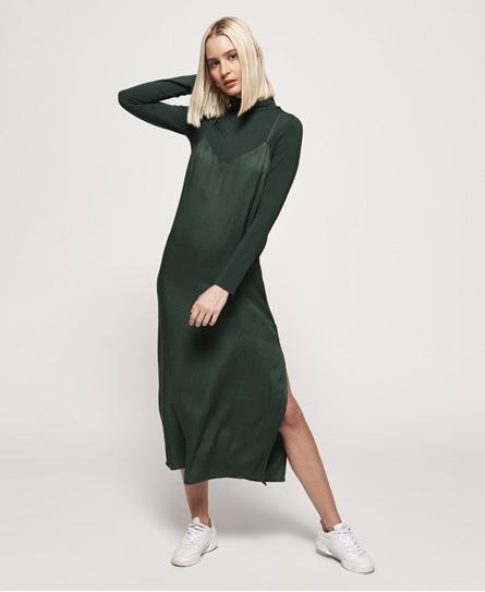Superdry Bianca Slip jurk groen