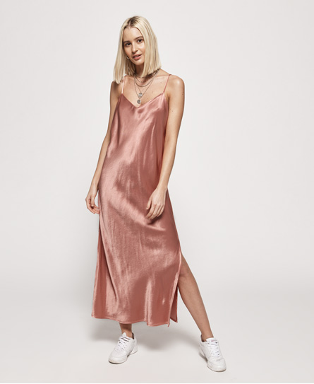 Superdry Bianca Slip jurk roze