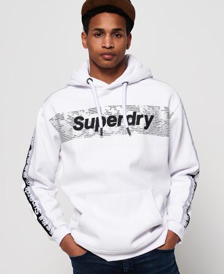 Superdry Superdry International hættetrøje i overstørrelse med monokromt design