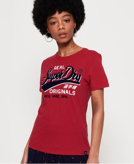 Superdry Superdry Real Originals T-shirt med flock-print