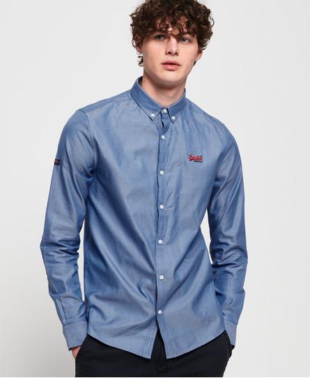 Superdry Superdry Broderet skjorte i førsteklasses kvalitet med button down-knappe