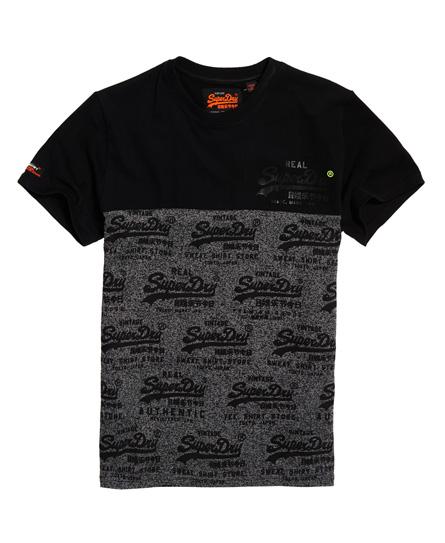Superdry Superdry Paneldesignet Vintage Logo T-shirt med neondetalje