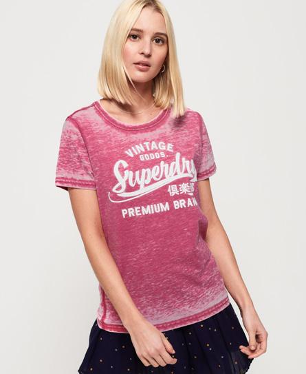 Superdry Superdry Burnout-mønstret Vintage Goods T-shirt