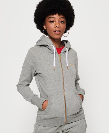 Superdry Leichte Elite Kapuzenjacke mit Reißverschluss aus der Orange Lab   Bekleidung > Sweatshirts & -jacken > Hoodies   Hellgrau   Material: baumwolle 57% polyester 43%    Superdry