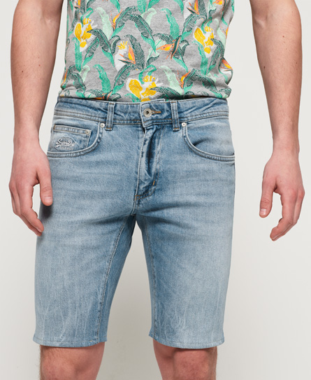 Superdry Skinny Jean Shorts In Blue