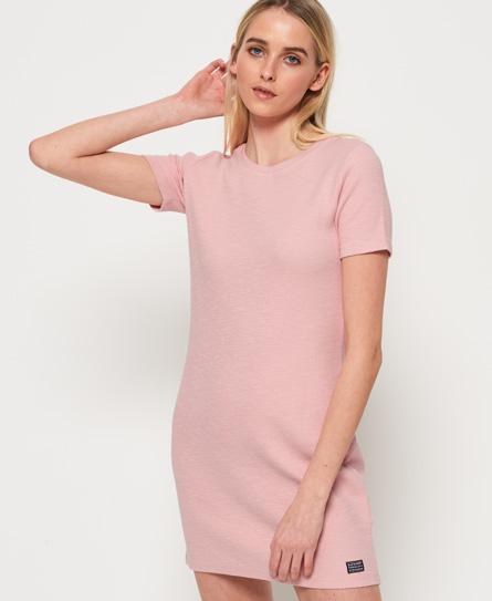 Superdry Textured jurk met ritssluiting op de rug roze