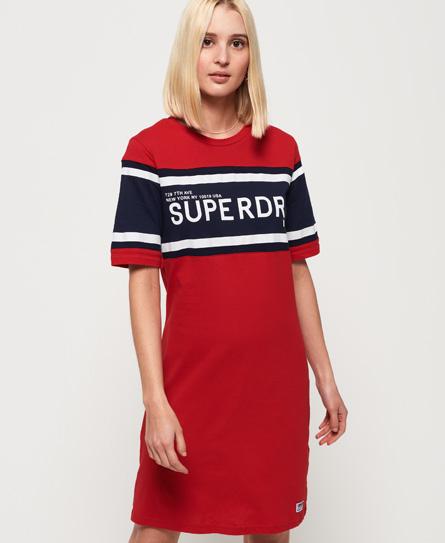 Superdry Hemdjurk met kleurvlakken rood