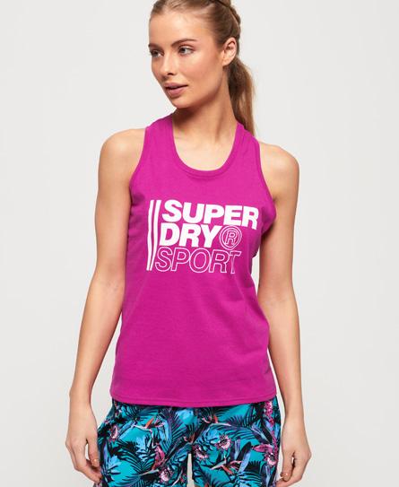 Superdry Core Sport Graphic Tanktop | Sportbekleidung > Sporttops | Pink | Rumpf: polyester 65%|baumwolle 35%| besatz: polyester 65%|baumwolle 35%| | Superdry
