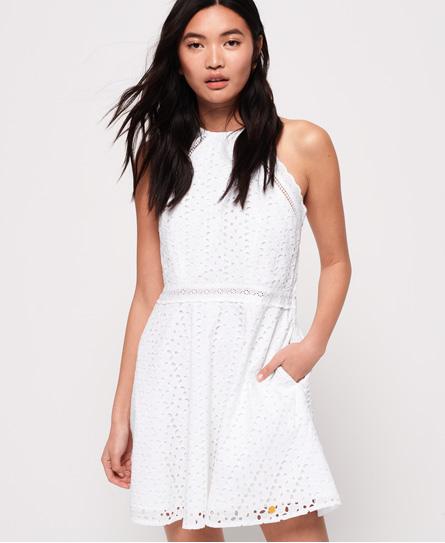Superdry Teagan Halter jurk wit