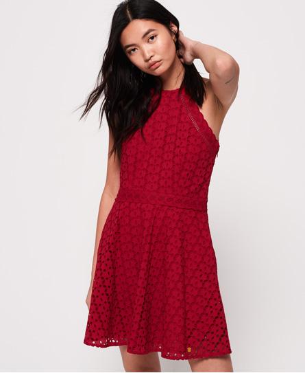 Superdry Teagan Halter jurk rood