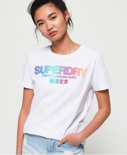 Superdry Superdry City Nights T-shirt med ombré-farvet og fremhævet logo