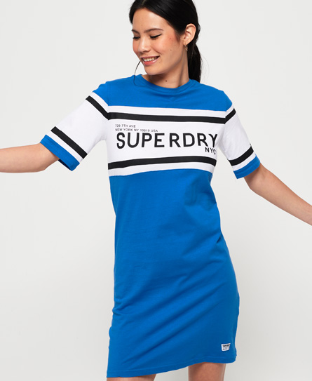 Superdry Hemdjurk met kleurvlakken blauw