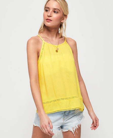 Superdry Ricky Cami Top In Yellow
