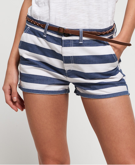 Superdry Superdry Stribede chinoshorts