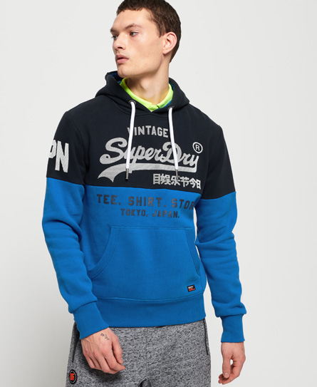 Superdry Superdry Sweat Shirt Store hættetrøje med paneldesign
