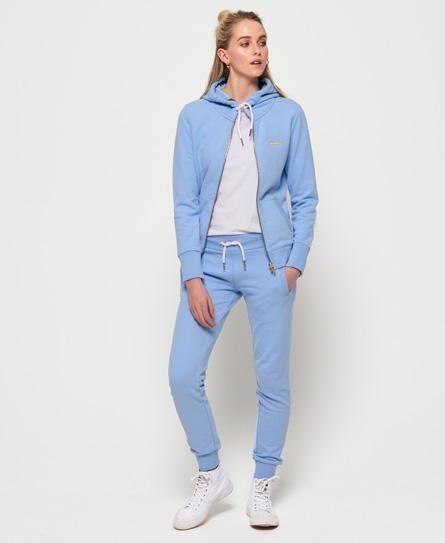 Superdry Leichte Elite Jogginghose aus der Orange Label Kollektion | Sportbekleidung > Sporthosen | Blau | Material: baumwolle 69%|polyester 31%| | Superdry