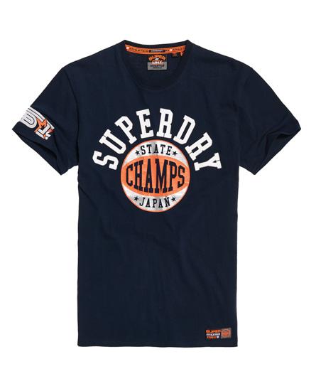 Superdry Superdry Podium T-shirt i en medium kraftig kvalitet