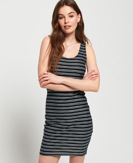 Superdry Sienna Chevron Textured mini-jurk navy