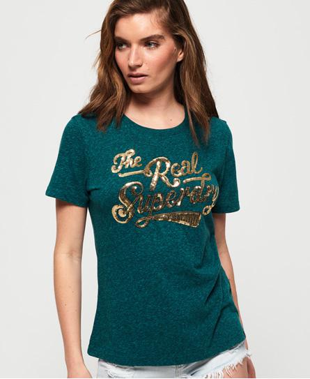 Superdry Superdry The Real Glitter T-shirt med pailetter