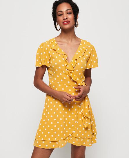 Superdry Summer Wrap jurk oranje