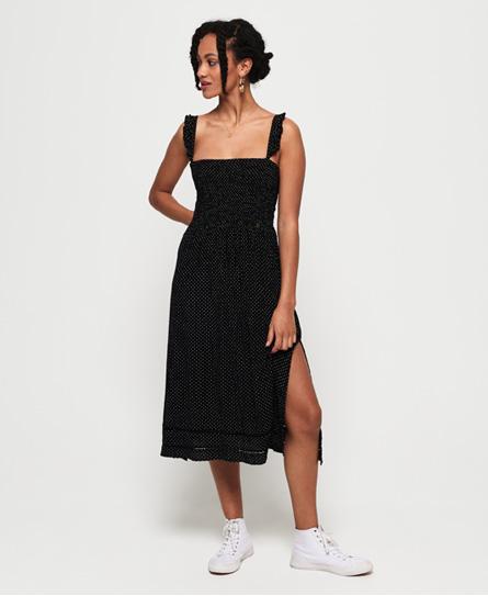 Superdry Rae midi-jurk zwart