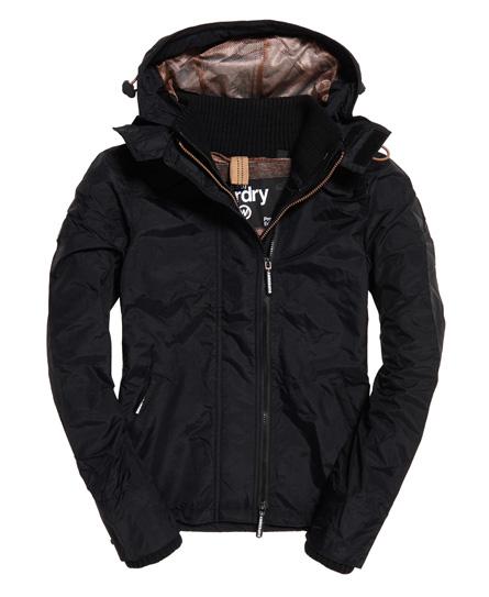 Superdry Superdry Tech SD-Windcheater jakke med hætte og farverig lynlås
