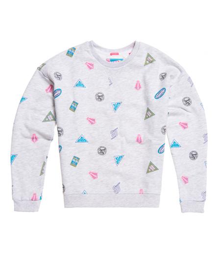 Superdry Superdry Miami sweatshirt med rund hals og print
