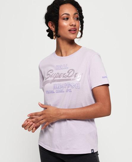 Superdry Superdry Code T-shirt med satinpræget vintagelogo