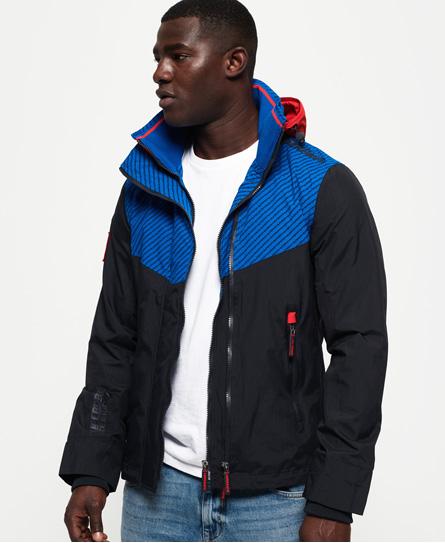 Superdry Superdry Tech Axis SD-Windcheater jakke med hætte og farvet lynlås