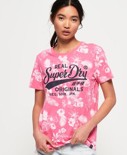 Superdry Superdry Real Originals Mono T-shirt med tropisk logo