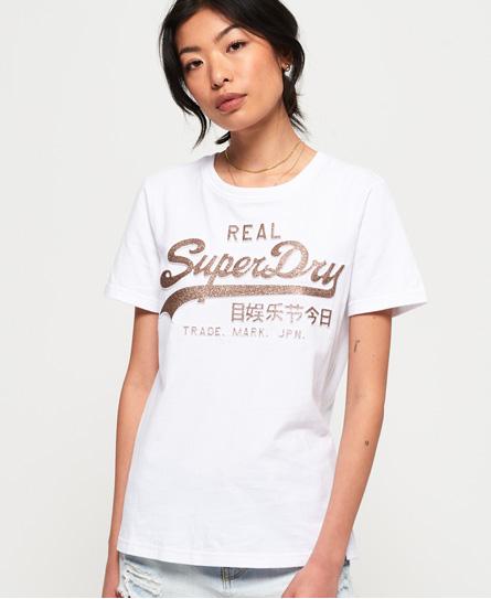 Superdry Superdry T-shirt med glitterpræg og vintagelogo