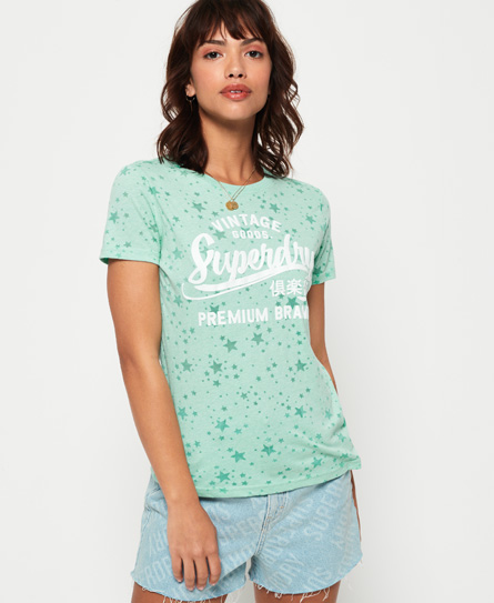 Superdry Superdry Vintage Goods T-shirt med gennemgående stjerneprint