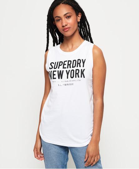 Superdry Superdry Oversized Kellow top uden ærmer med grafik