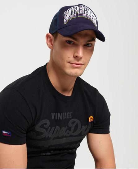 Superdry Varsity Triple Cap | Accessoires > Caps | Marineblau | Rumpf: polyester 100%| rumpf: baumwolle 100%| | Superdry