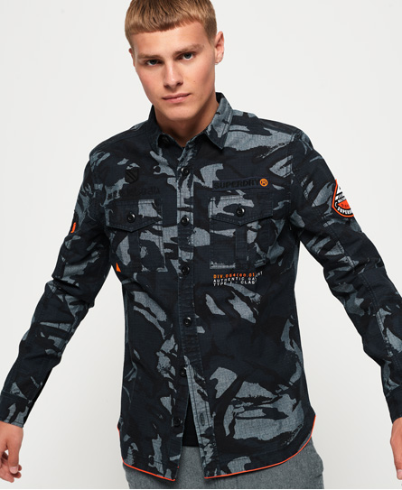 Superdry Superdry Langærmet Military Storm skjorte