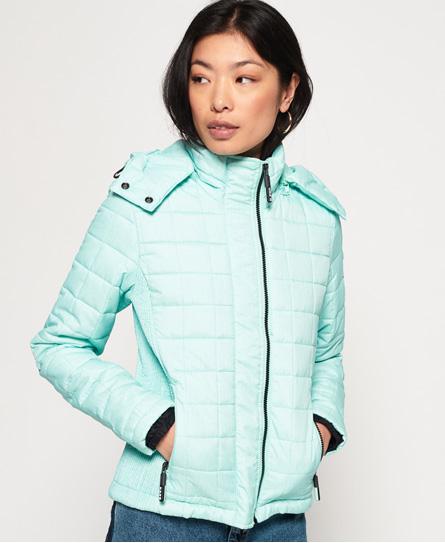 Superdry Superdry Quiltet, firkantet Fuji jakke med hætte