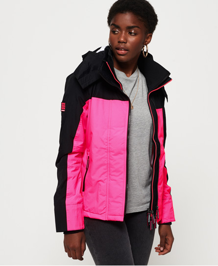 Superdry Superdry Pop Zip Arctic Pacific SD-Windcheater med hætte