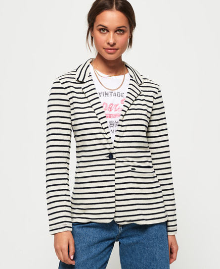 Se Superdry Superdry Nautical blazer i jersey ved SuperDry