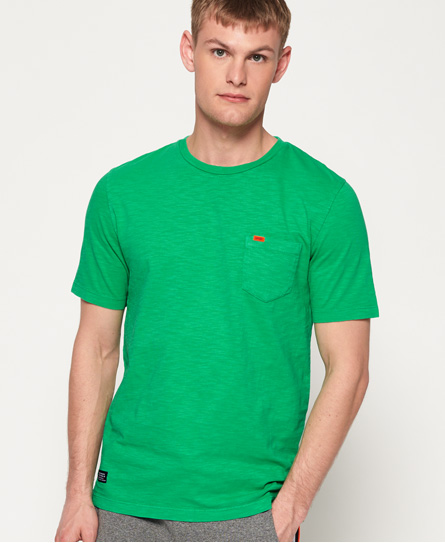 Superdry Dry Originals Pocket T-shirt In Yellow