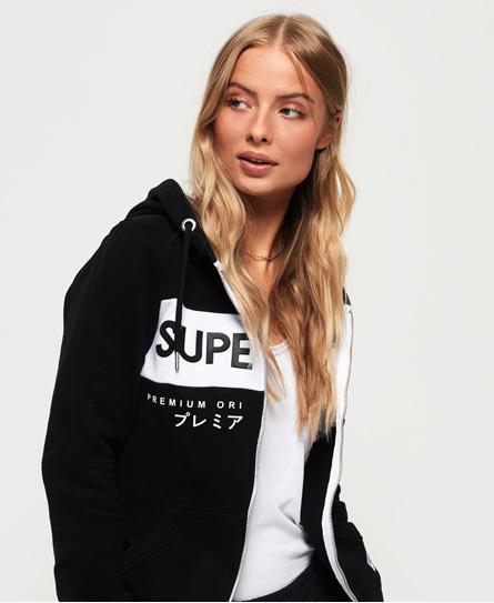 Superdry Superdry Jaylah hættetrøje med lynlås